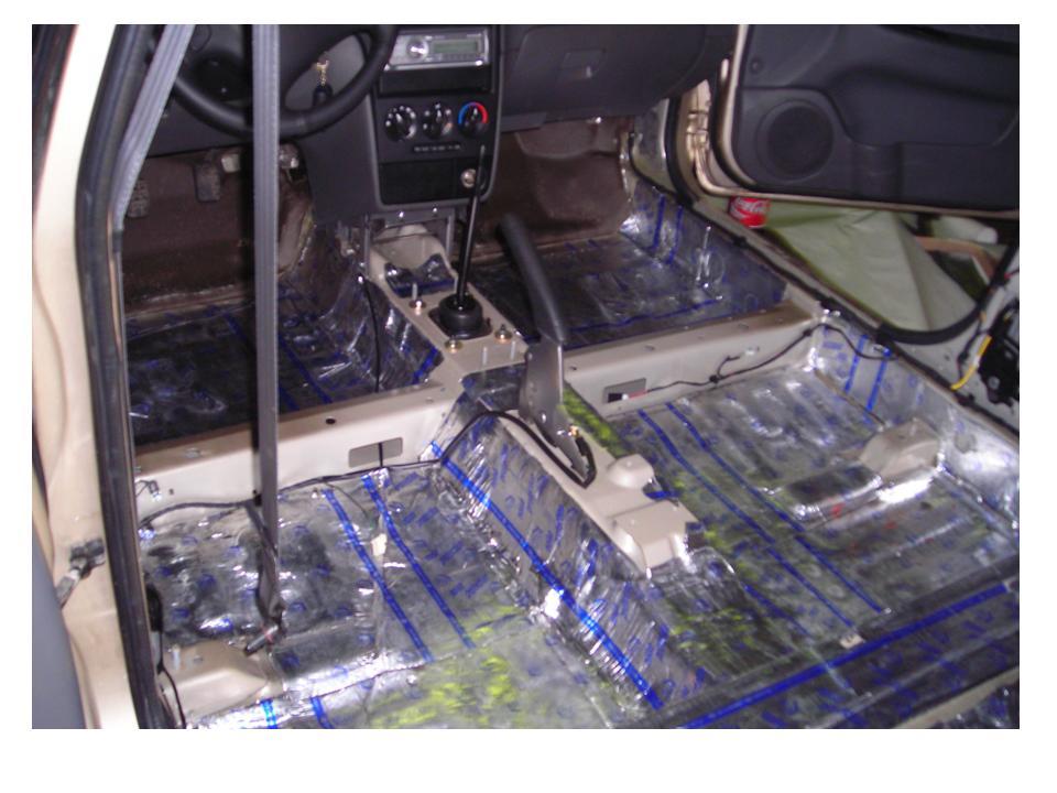 Шумоизоляция салона автомобиля ( 1 слой)