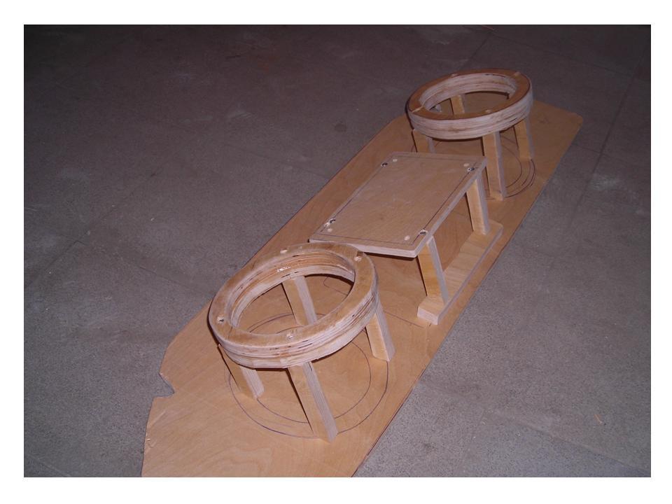 Изготовление корпуса под 2 ух комп. акустику на крышку багажника