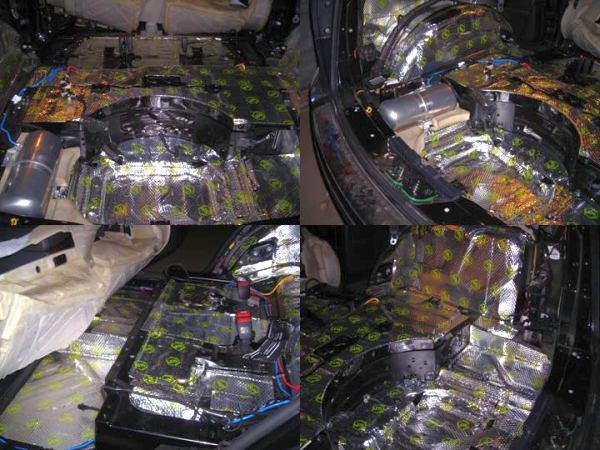 Шумоизоляция салона автомобиля ( 2 слой: сплен )
